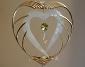 With all my Heart, Stained Glass Windchime, Suncatcher, Ornament
