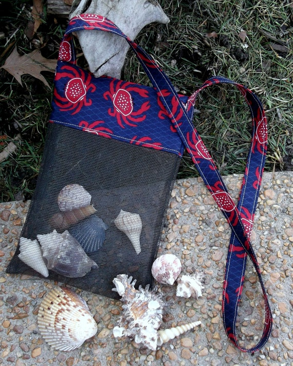 Crab Beach Shell & Treasure Bag