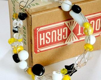 Walkin on Sunshine - Strung-Out recycled guitar string bracelet