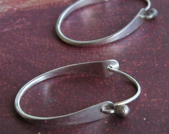 Lana Hoops: Sterling Silver Medium Sized Modern Hoops with Closing Tension Clasp