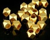 KG-509 thai karen hill tribe handmade silver 15 gold vermeil small facet bead