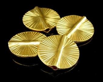 KG-204 thai karen hill tribes silver 1 gold vermeil round scratch disc bead