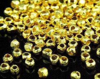KG-313 thai karen hill tribes silver 100 gold vermeil mini facet bead
