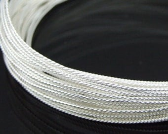 KX-001 thai karen hill tribe handmade silver 5ft. triple twist wire 18ga.