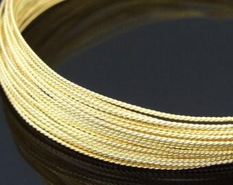 KX-008 thai karen hill tribe handmade silver 5ft. triple wire twist gold vermeil 20ga.