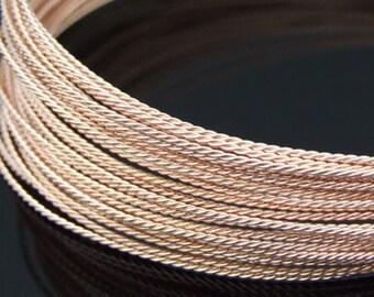 KX-009 thai karen hill tribe handmade silver 5ft. triple twist wire rose gold vermeil 20ga.