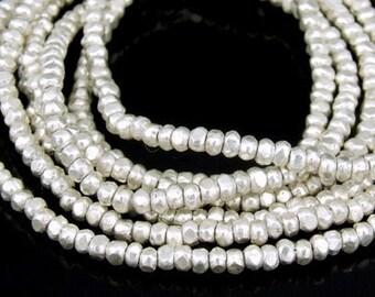 KL-020 thai karen hill tribe silver 100 mini facet bead
