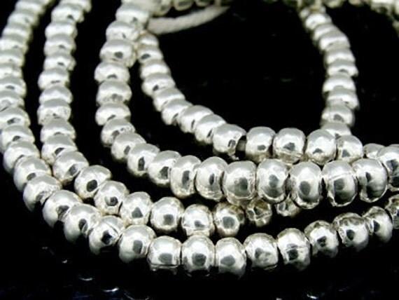 KK-026 thai karen hill tribe silver 20 plain spacer bead
