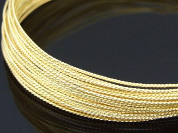 KX-002 thai karen hill tribe handmade silver 5ft. triple wire twist gold vermeil 18ga.