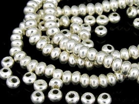 KK-036 thai karen hill tribe silver 30 mini plain spacer bead