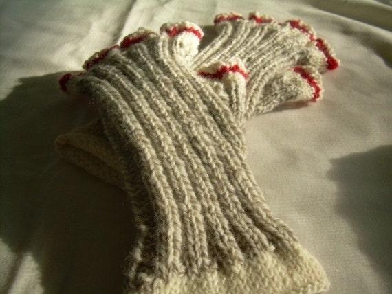Sock Monkey Fingerless Gloves by KittyKnitDesigns on Etsy