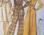 Vintage Vogue 2968 Misses Dress, Tunic and Pants 70s Size 12