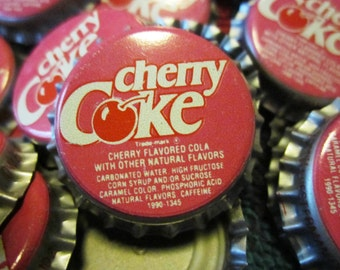 CHERRY COKE (20) unused Bottlr Caps  20 clean great unique