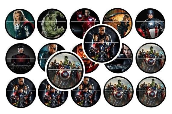 The Avengers (1) inch digital Circle Image 4X6