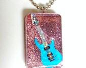 Glitter Guitar Pendant
