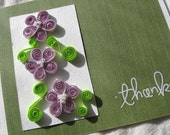 Quilled Flower Thank You Card