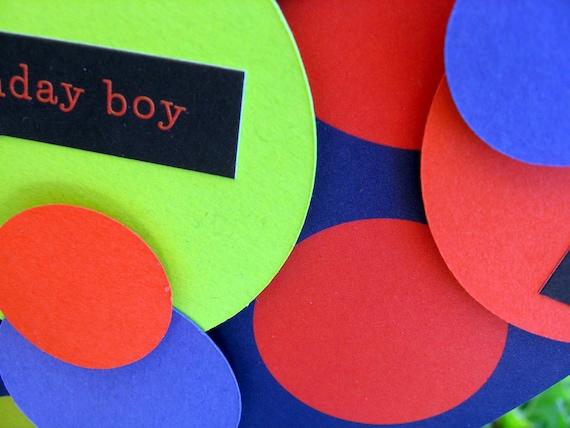 Birthday Boy Circle Gift Bag