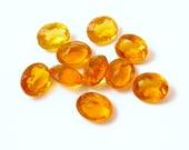 10 10x8mm Honey Citrine Golden Topaz Glass Jewel Lot