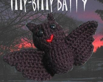 PATTERN - itty-bitty BATTY amigurumi