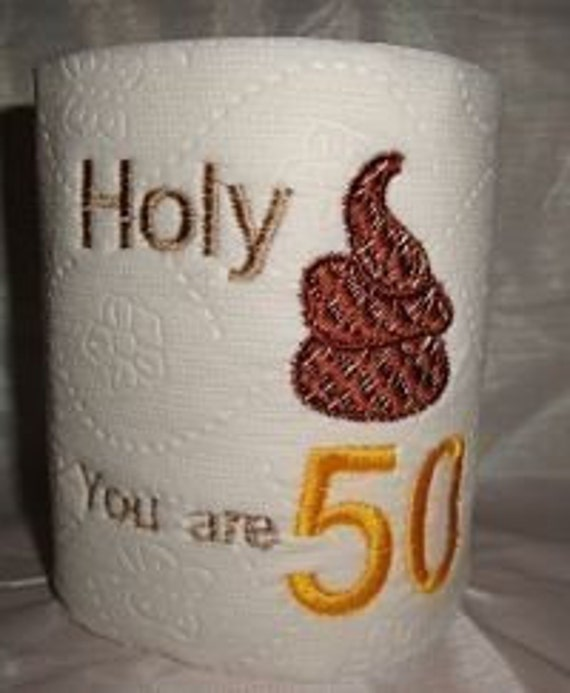 50th Birthday Funny Gift Gag Toilet Paper