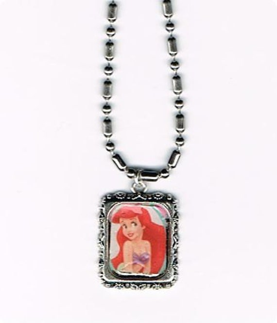 Ariel Little Mermaid Necklace on Ball Chain