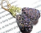 Osage Beach, Titanium Druzy, Bejeweled Earrings