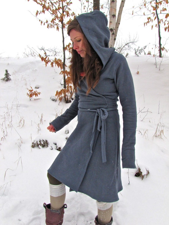 Hooded Winter Wrap Dress