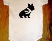 french bulldog short sleeve onesie 3-6 months