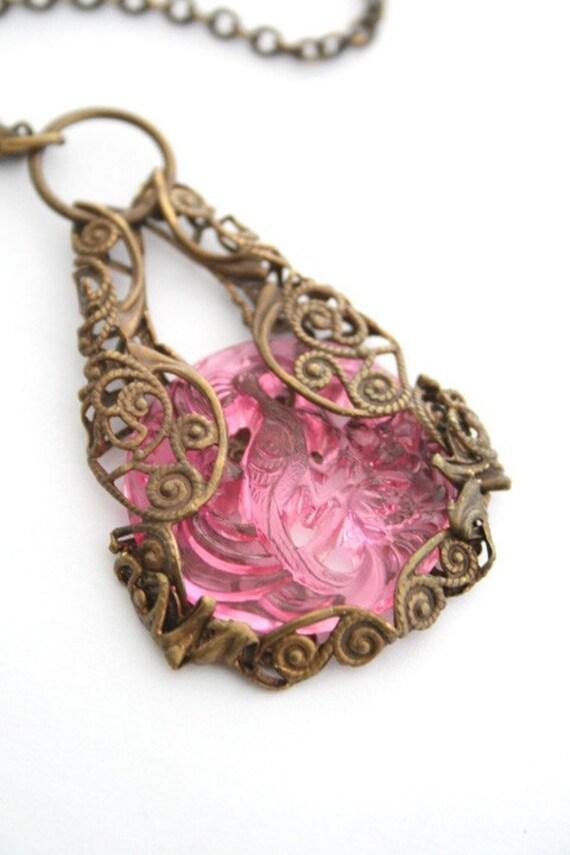 Bird of Paradise - filigree art necklace