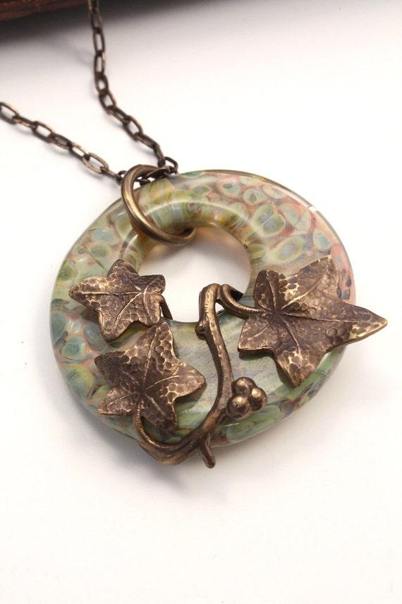 Ivy Splendor - Artisan Vintage Hand Rendered Necklace