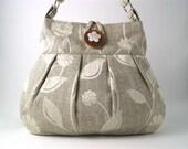 grey tote bag- messenger bag- fabric handbag- crossbody tote bag- diaper bag- crossbody purse-  shoulder bag- cross body bag