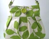 lime green   Large  hobo ,tote, messenger ,shoulder   bag