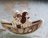 People in boats drawer handle, knob, cabinet pull