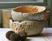 wood fired pair of bowls