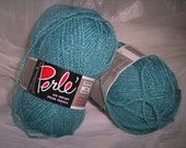 Teal French yarn supplies knitting crocheting fibers ZNE
