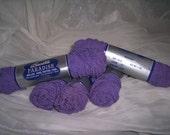 Purple yarn supplies knitting crocheting fibers ZNE