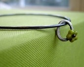 Flower Bangle Bracelet - Recycled Silver