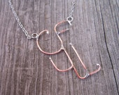 Copper Wire Initial Necklace