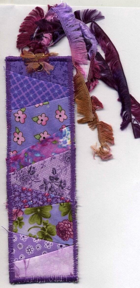 Purple quilt bookmark 2