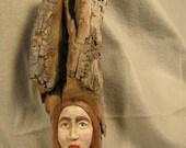 Hand Carved Cottonwood Bark Wood Spirit