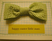 Grass Green Bowtie - SMALL (boys ages 0-2) - FREE SHIPPING