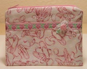 Pink Ballet Shoes -  Zippered Pouch