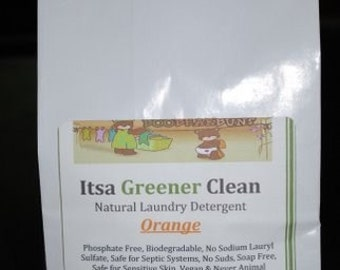 Orange  Natural Laundry Detergent - 40 Loads- Itsa Greener Clean