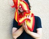 FIREBALL - crocheted scoofie
