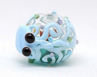 Made to order Margo lampwork beads hollow octopus