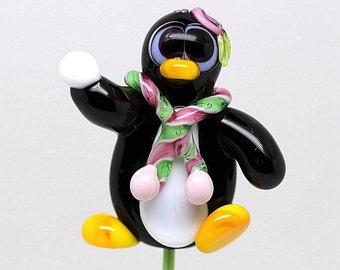 Made to order Margo lampwork beads penguin