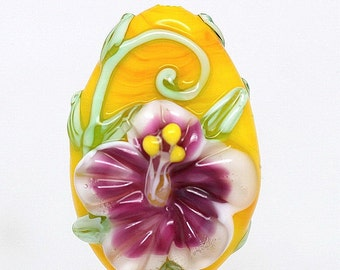 Made to order Margo lampwork beads floral