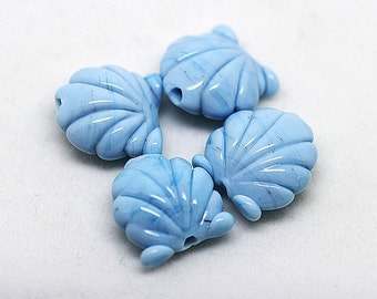 Made to order Margo lampwork beads scallop