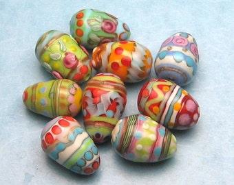 made to order margo lampwork easter egg (9) randon color OOAK
