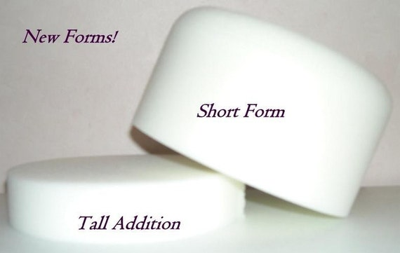 Needle felt hat forms, new design , Medium Hat Crown with instructions